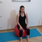 Stability ball sitting 2 - Avital