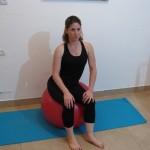 Stability ball sitting 4 - Avital