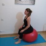 Stability ball sitting 5 - Avital